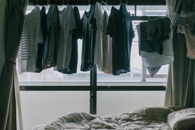 室内に干して邪魔な洗濯物