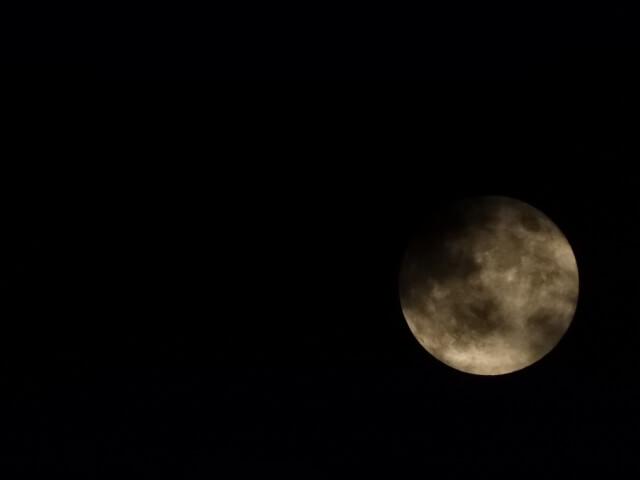 夜空の満月