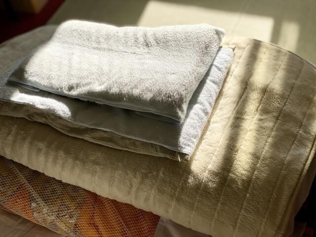 畳んだ布団