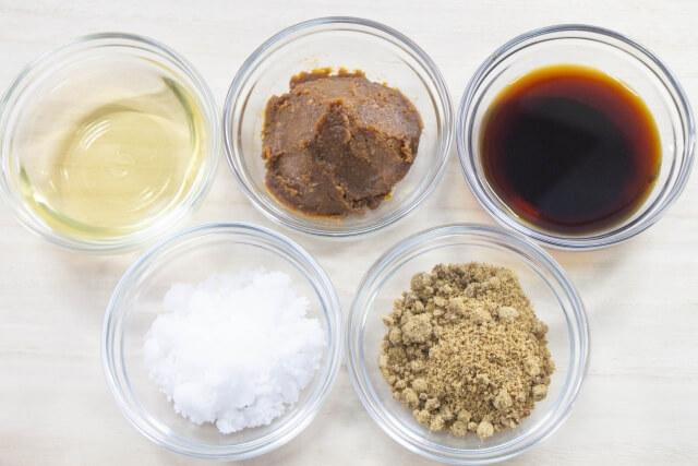 5種類の調味料