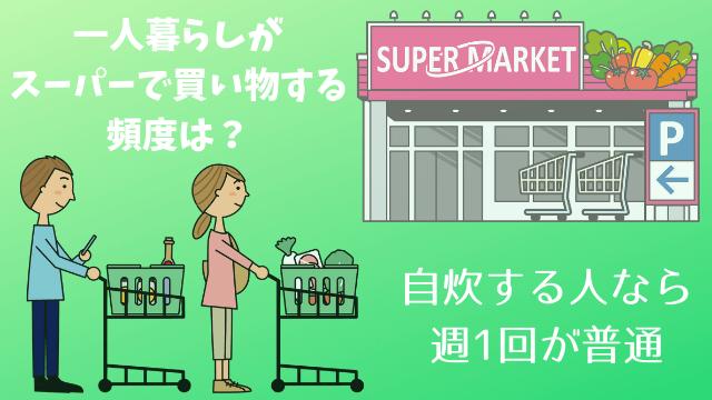 一人暮らしがスーパーで買い物する頻度は?